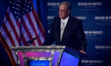 Billionaire David Koch speaks at a 2013 Americans for Prosperity Foundation event.